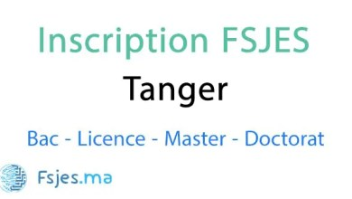 inscription FSJES Tanger 2020-2021