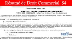 Droit Commercial résumé s4