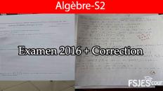 Examen algèbre corrigé