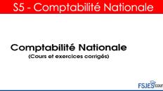 Cours comptabilité nationale