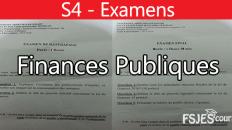 Finances publiques examens S4