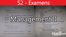 Examens Management II: