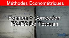 Méthodes économetriques examen