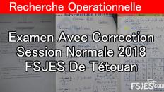 Recherche opérationnelle examen s6