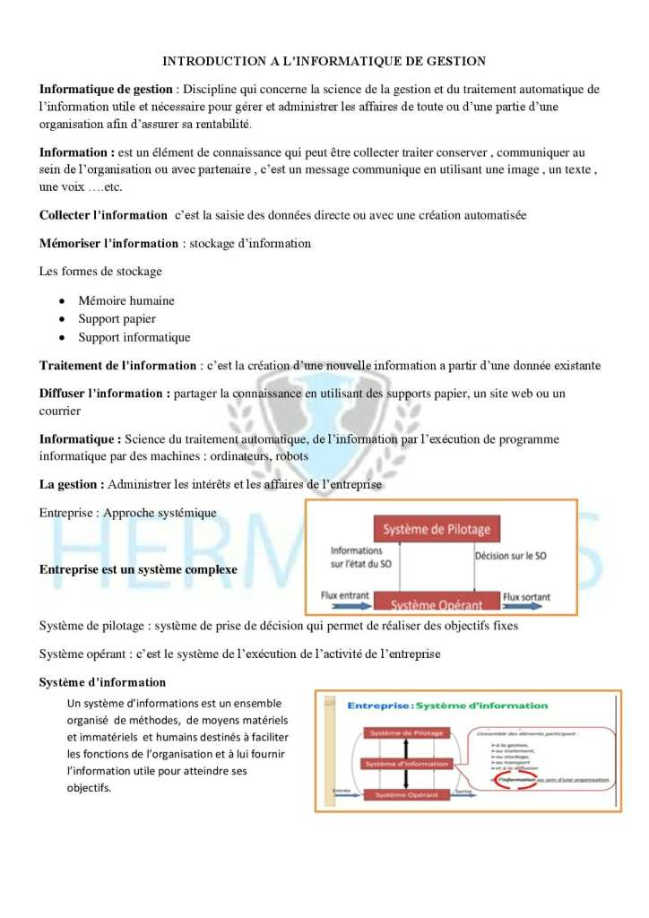 Informatique de gestion