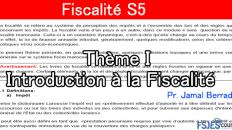 Introduction à la Fiscalité