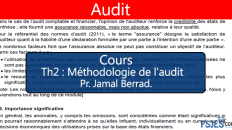 Audit cours s5 Méthodologie de l'audit