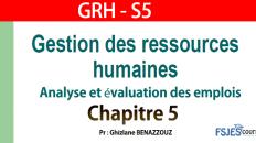 GRH cours complet chapitre 5