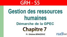 GRH cours complet s5 chapitre 7
