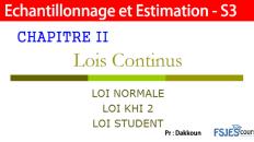 Les Lois Continus