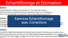 Exercices Échantillonnage avec Corrections