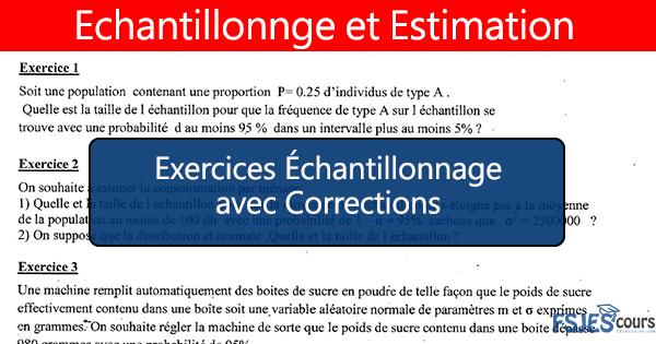 Échantillonnage exercices s3