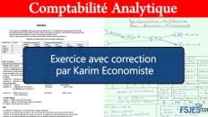 Exercice de la comptabilité analytique avec correction