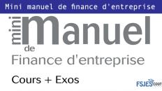 Mini manuel de finance d'entreprise livre