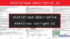 statistique descriptive exercices corrigés s1