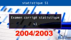 Examen corrigé statistique 2003/2004