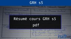Résumé cours GRH s5