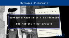 ouvrage d'Adam Smith la richesse des nations pdf