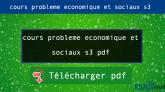 Cours problème économique et sociaux s3 pd