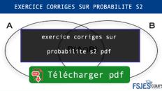 exercice corriges sur probabilite s2 pdf maroc