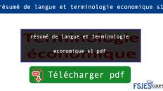 langue et terminologie s1