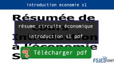 résume circuite économique introduction s1 pdf
