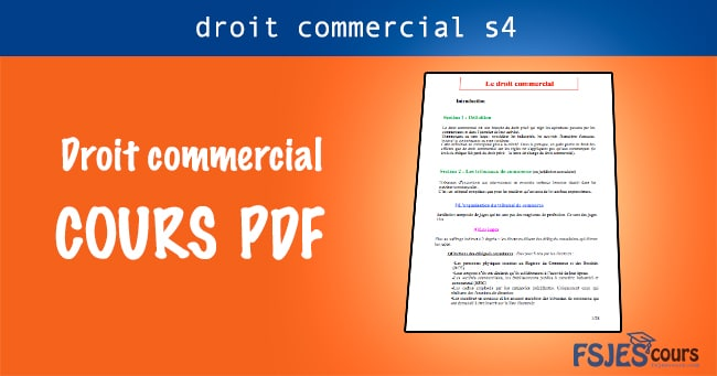 droit commercial pdf