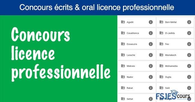 Concours licence professionnelle pdf