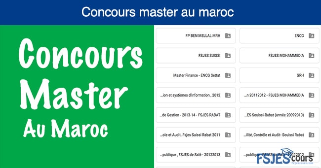 Concours master au maroc