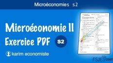 Microéconomie II exercice