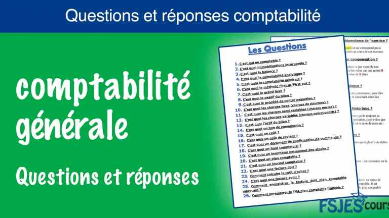 Questions et réponses comptabilité