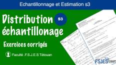Exercices échantillonnage corrigés s3