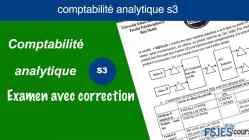 Examen comptabilité analytique s3