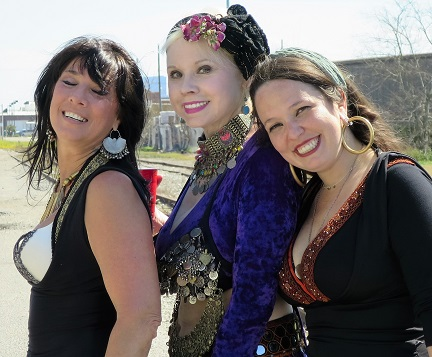These 3 ladies dressed up to hike the Lafitte Greenway March 5, 2016