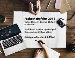 Fachschaftsfahrt 20.-22.4.2018