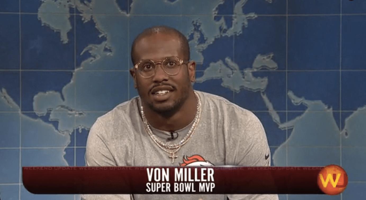Broncos' Von Miller Explains Gravitational Waves on 'SNL ...