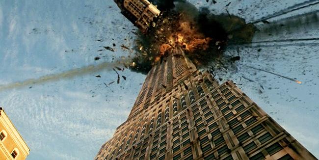 New York viene colpita da una pioggia di meteoriti nel film Armageddon del 1998