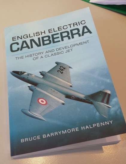 Reading about and flying the Canberra