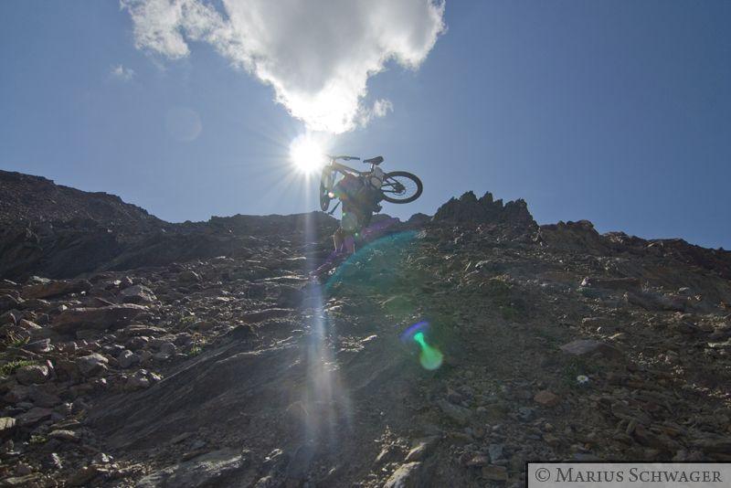 Bike-Bergsteigen