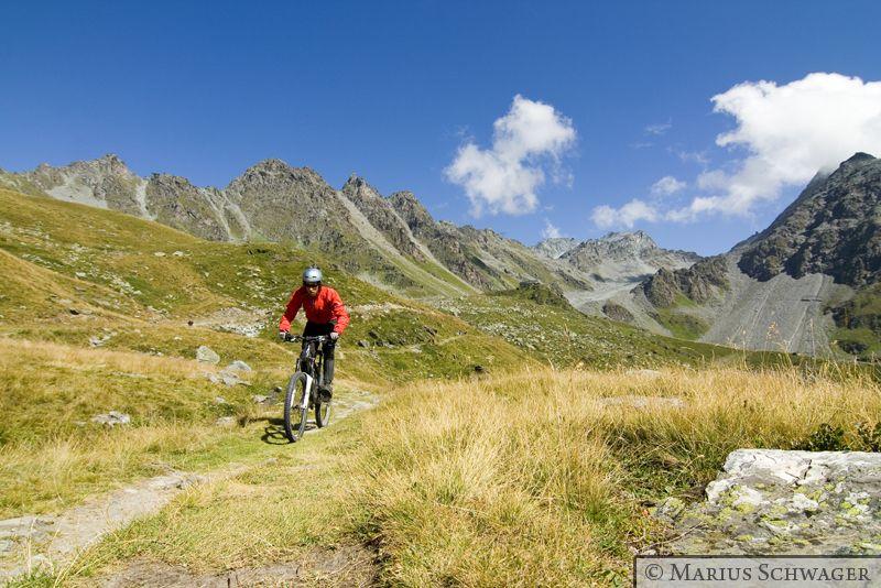 Radfahren doch nicht verboten. Trailsurfen in Verbier