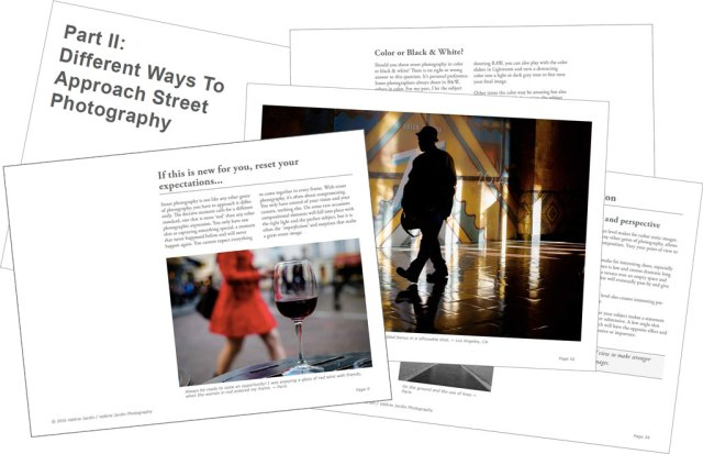"""Inside Valérie Jardin's ebook """"Street Photography: First steps and beyond"""""""