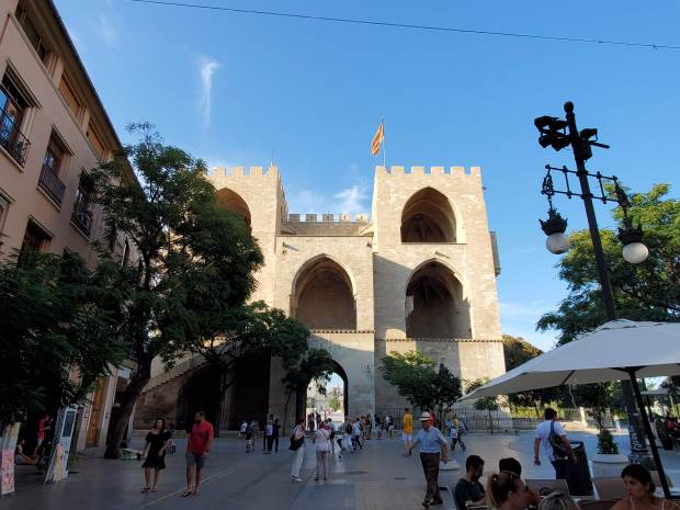 Old city gate in Valencia