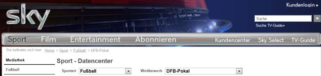 SkyDFBPokalDatencenter