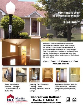 One Sheet with Property Information
