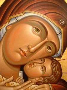Icon detail -- the Theotokos