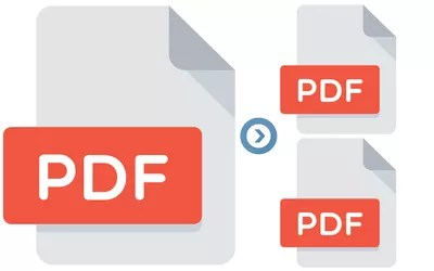 Illustration of a PDF splitter