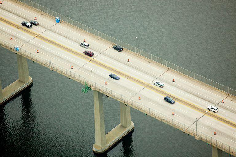 Narragansett Bay, Newport County, Rhode Island, ABD üzerinden köprü