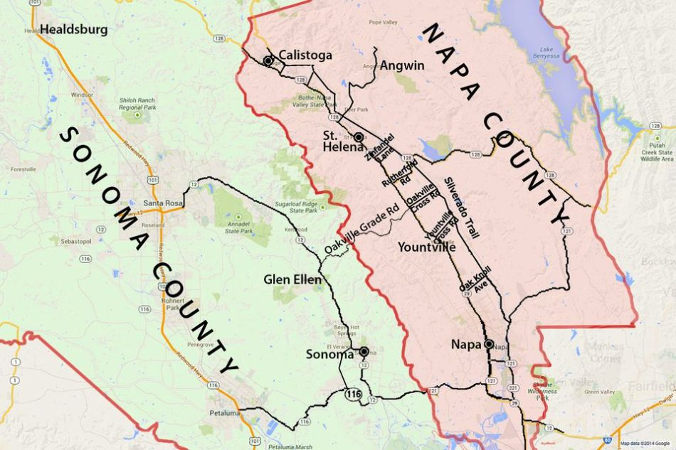 Image result for map of napa, sonoma, alexander valley