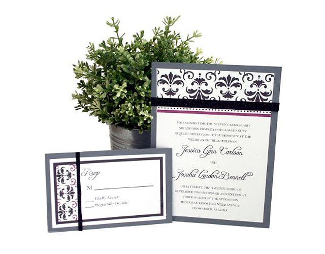 Damask Printable Wedding Invitation