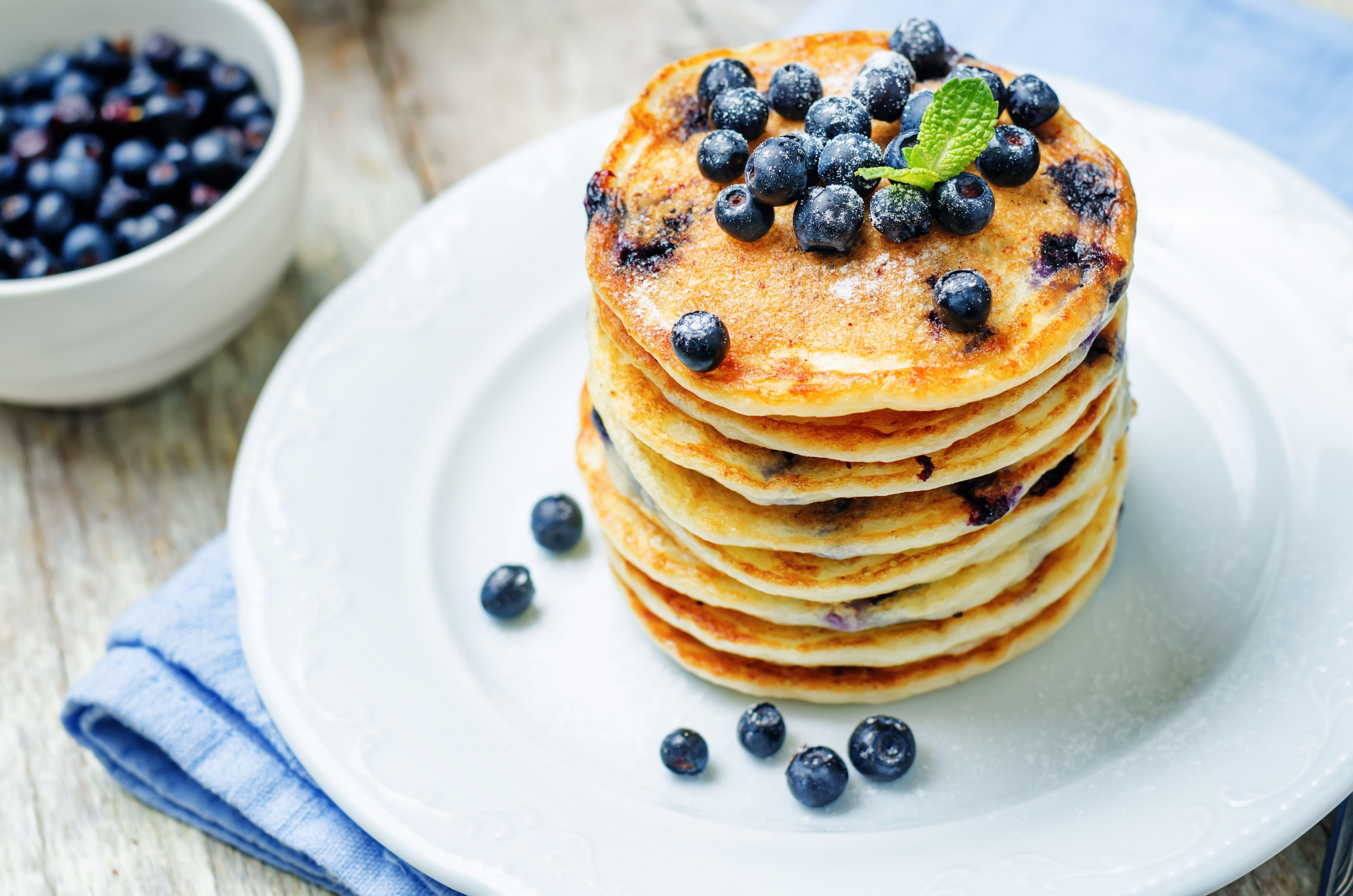 Vegan Blueberry Pancakes Recipe